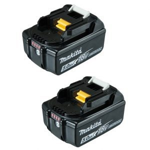 Makita BL1850B-2 18V LXT Lithium-Ion 5.0Ah Battery Twin Pack
