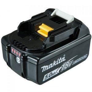 makita bl1850b 5.0ah 18v li-ion battery with fuel indicator