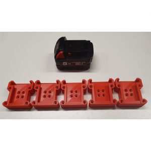 Milwaukee 18V battery holder mount