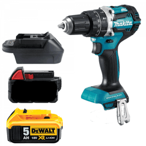 makita 18v tool to milwaukee m18 dewalt battery adapter