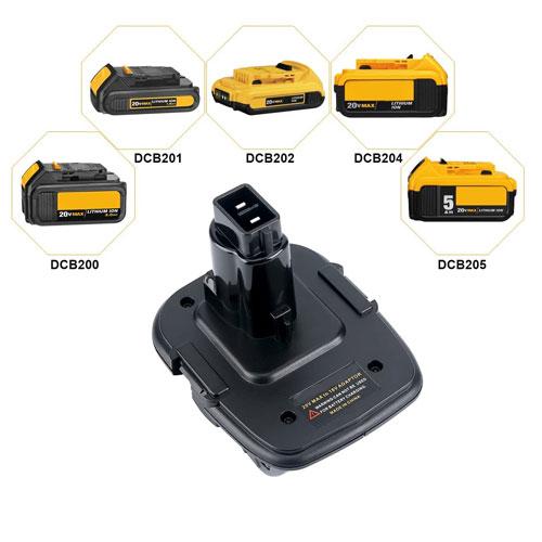 dewalt 18v 20v xr slide battery to pod style tool xrp adapter