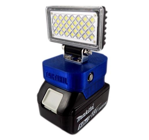 makita cordless 18v work lamp usb charger 726 lumens bl1850b